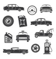 retro cars and items icons vector image vector image