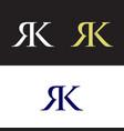 rk logo vector image