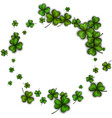 round background with green shamrocks vector image vector image