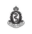 Royal army medical corps or ramc badge retro