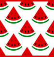 seamless background watermelon slices on a white vector image vector image