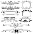 Set of floral calligraphic design elements vector | Price: 1 Credit (USD $1)