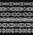 set white seamless borders vector image vector image
