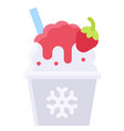 shaved ice icon summer vacation related vector image vector image