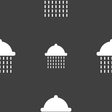 shower icon sign Seamless pattern on a gray vector image