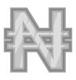 Sign of money naira icon black monochrome style vector image vector image