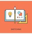 Sketching vector image vector image