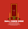 Small Chinese Shrine vector image vector image