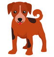 small cute puppy in flat style vector image vector image