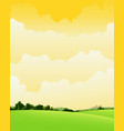 spring and summer cloudy landscape vector image vector image
