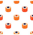 sushi - rolls seamless pattern vector image vector image