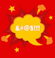 swear or curse word in bomb bubble anger concept vector image vector image