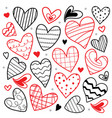 sweetheart i love you valentine heart cute cartoon vector image