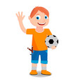 the boy on a white background vector image vector image