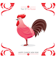 The Rooster On Chinese New Year Card vector image vector image