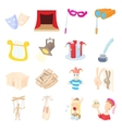 Theatre Icons set cartoon style vector image vector image