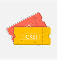 ticket icon in trendy flat style vector image vector image