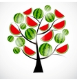 Tree from watermelon vector image vector image