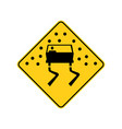 usa traffic road signs pavement is slippery when vector image