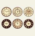 vintage clock elegant antique metal watches
