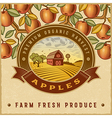 Vintage colorful apple harvest label vector image vector image