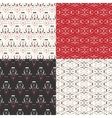 Vintage pattern set vector image