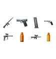 weapons icon set cartoon style vector image vector image