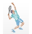 Tennis player abstraction vector image