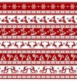 Christmas seamless background vector image