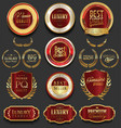 golden luxury badges retro design collection vector image
