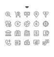 financial pixel perfect well-crafted thin vector image