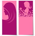 Abstract beautiful women card vector image