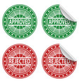 approved rejected stickers