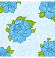 beautiful pattern with blue flowers vector image