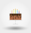 birthday cake with candles happy icon vector image
