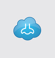 Blue cloud nose icon vector image vector image
