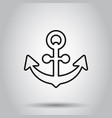 boat anchor sign icon in flat style maritime vector image