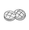 bread rolls outline vector image vector image