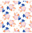 brush stroke flowers pink and blue floral feminine vector image vector image