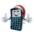 calculator math christmas character vector image vector image