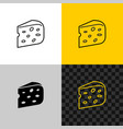 cheese icon piece of semi hard cheese head vector image
