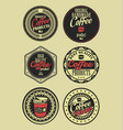 coffee vintage retro labels 4 vector image