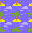 colorful seamless pattern of cute palms on sand vector image