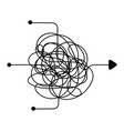 confused process chaos line symbol finding a way vector image vector image