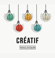 creative teamwork ideas french design concept vector image vector image