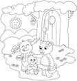 Cute coloring bears vector image vector image