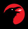 dark evil heraldic raven vector image vector image