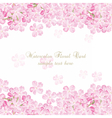 Delicate Pink flowers card vector image