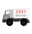 Delivery car grey with text free delivery vector image