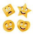emotional shapes - square star circle heart basic vector image